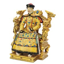 <strong>Design Toscano</strong> Chinese Emperor on Dragon Throne Figurine