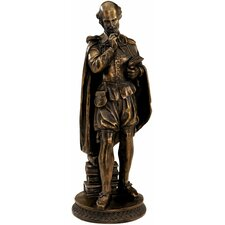 Pondering Shakespeare Sculpture in Faux Bronze