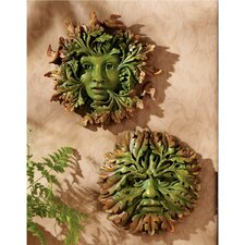 <strong>Design Toscano</strong> The Somerset Greenwoman and Greenman 2 Piece Wall Décor Set