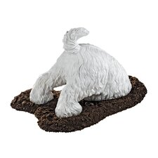 Highland Terrier Digging Dog Statue