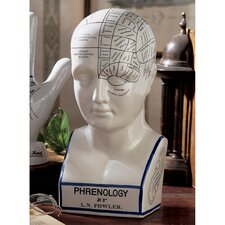 Phrenology Head Figurine
