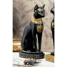Egyptian Cat Goddess Bastet with Earrings Figurine