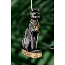 <strong>Design Toscano</strong> Bastet Egyptian Holiday Ornament in Faux Ebony and Gold