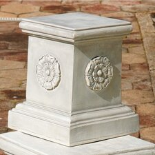 <strong>Design Toscano</strong> English Rosette Garden Sculptural Large Plinth