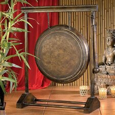 Sheng Kwong Authentic Metal Gong in Antiqued