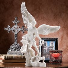 Bonded Marble St. Michael the Archangel Angel Figurine