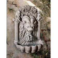 Resin House of York Lion Sculptural Fountain