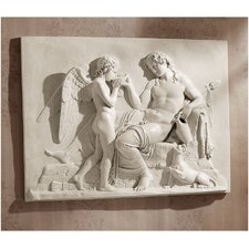 Eros and Dionysus High Relief Frieze Sculpture