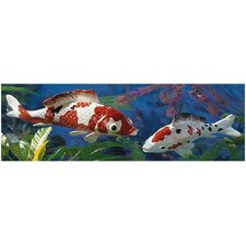 2 Piece Japanese Floating Koi Figurine Set
