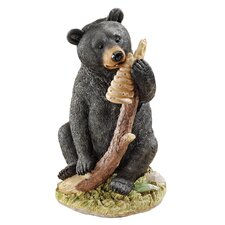 <strong>Design Toscano</strong> Black Honey the Curious Bear Cub Figurine