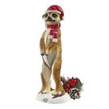 <strong>Design Toscano</strong> Merry Meerkat Holiday Greeter Statue