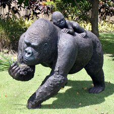 The Lowland Gorillas MoTher and Child Great Ape Statue
