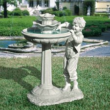 The Child's Mischievous Splash Sculptural Tiered Fountain