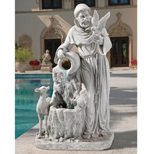 <strong>Design Toscano</strong> Resin St. Francis Life-Giving Waters Fountain