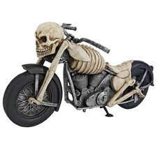 Bone Chillin Skeleton Motorcycle Statue