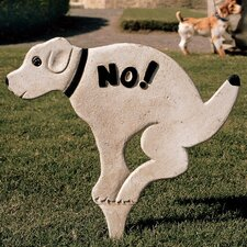 <strong>Design Toscano</strong> No Pausing Pooch Garden Sign (Set of 3)