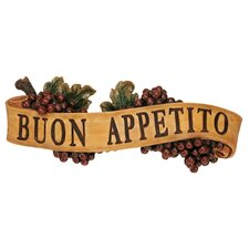 Abbondanza Buon Appetito Sculptural Wall Plaque (Set of 2)