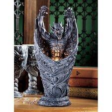 "Dark Shadows Gargoyle Sculptural 13.5"" H Table Lamp"