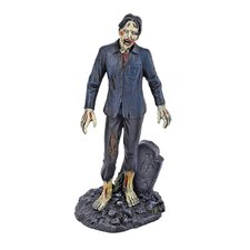 Dead Walking Zombie with Tombstone Figurine