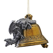 <strong>Design Toscano</strong> Humdinger the Bell Ringer Gothic Dragon 2011 Holiday Ornament