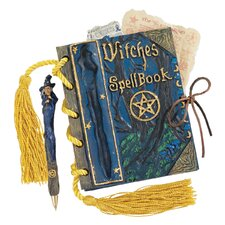 <strong>Design Toscano</strong> Witches Mystic Spell Book and Pen