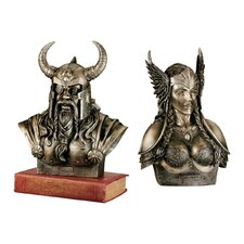 2 Piece Pantheon of Norse Divinities Bust