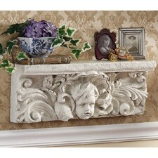 <strong>Design Toscano</strong> Cathedral Cherub Sculptural Wall Shelf