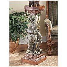 The Elephant's Triumph Pedestal Plant Stand