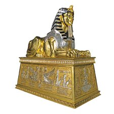 Grand Gilded Sphinx Statue