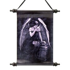 <strong>Design Toscano</strong> Lost Soul Dark Angel Canvas by Anne Stokes Wall Scroll Tapestry