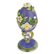 <strong>Design Toscano</strong> Spring Bouquet Collection Faberge Style Enameled Egg