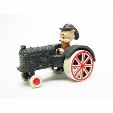 Farmer Pig Replica Cast Iron Farm Toy Tractor