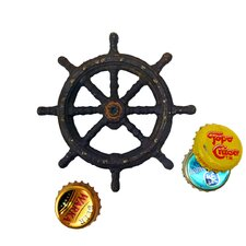 Captain's Boat Wheel Cast Iron Bottle Opener
