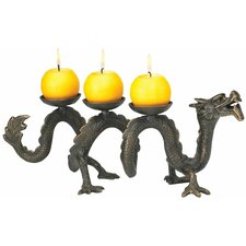 Ancient Dragon Foundry Iron Candelabrum