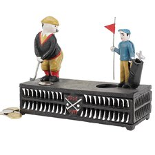The Golfer: This Putt is for a Birdie Collectors' Mechanical Coin Bank Figurine
