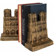 Notre Dame of Paris Sculptural Book Ends (Set of 2)