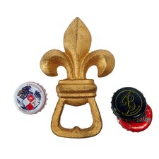 Fleur de Lis Cast Iron Bottle Opener
