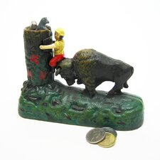 Butting Buffalo Collectors' Die Mechanical Coin Bank