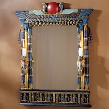 <strong>Design Toscano</strong> Wadjet Egyptian Wall Mirror with Cobra Sconces