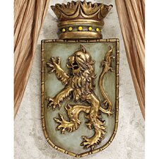 <strong>Design Toscano</strong> Medieval Rampant Lion Shield Wall Décor