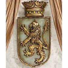 Medieval Rampant Lion Shield Wall Décor