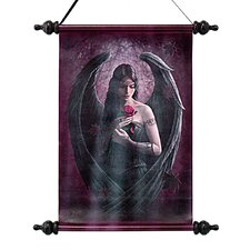 Angel Rose Canvas by Anne Stokes Wall Scroll Tapestry