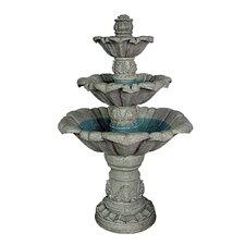 Sorrento Three - Tier Fountain
