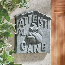 "<strong>Design Toscano</strong> Beware of Dog Italian ""Attenti al Cane"" Wall Décor"