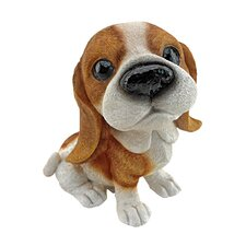 Prized Pup Basset Puppy Dog Statue