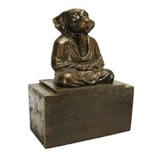 Spirit of Zen Meditating Dog Bookend