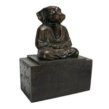 Spirit of Zen Meditating Dog Bookend (Set of 2)