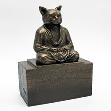 Spirit of Zen Meditating Cat Bookend (Set of 2)