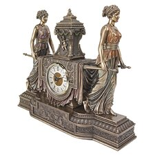 Versailles Maidens Sculptural Mantel Clock