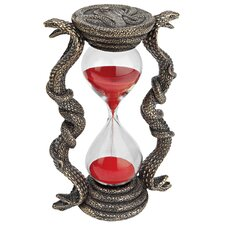 Egyptian Cobra Goddess Sandtimer Hourglass Figurine (Set of 2)